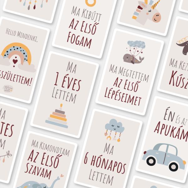 Bohém baba mérföldkő kártya - BabaMérföldek